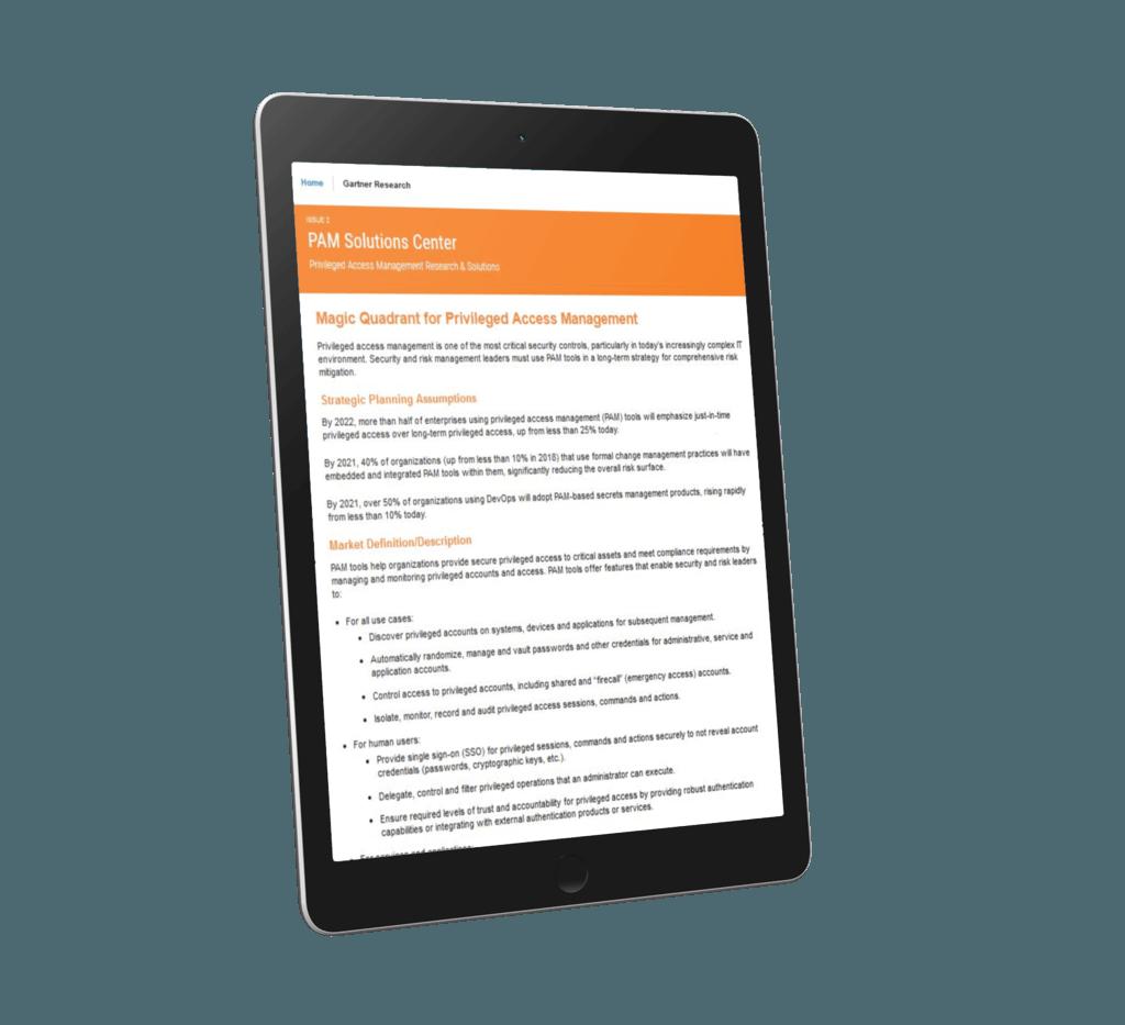 Gartner PAM Magic Quadrant | CoreSight